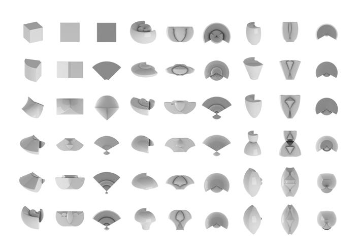 Déformations continues #1 (cube 001 à 036)