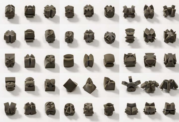 Déformations continues #3 (cubes 020 à 040)